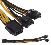 Горячие продажи PCIe 6pin двойной 8pin (6+2) Y Splitter разъем адаптера кабель питания изготовлен из 18AWG провода для видеокарты LLFA