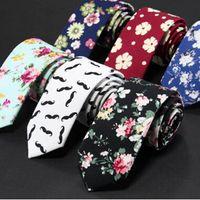 Männer Baumwolle Krawatten Blume Krawatte Männer Casual Solid kintted schmales Design Flat-End Krawatte Krawatten 6 CM schlanke Krawatten Skinny Tie MOQ 20 Stk