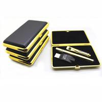 Golden 510 épais huile vape stylo sans fuite jetable cartouche en céramique 92a3 chargeur USB sans fil 280 mah bouton batterie zipper case starter kit