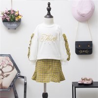Spring Autumn Fashion Girls Outfits long sleeve Hoody + Skirt...