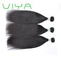VIYA 10A 브라질 버진 헤어 번들로 폐쇄 브라질 헤어 스트레이트 인간의 머리 번들로 폐쇄 10-24 인치 스트레이트