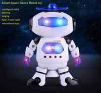 Dancing robot toys singing and dancing kids toys with 7 colo...