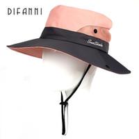 Difanni Big brim Cappello estivo da donna giovane Cappello da sole per donna  Parasole da soleBeach 5db0dfa91963