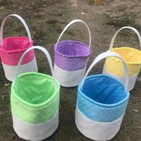 Round Easter basket Cotton Dot easter baskets easter egg sto...