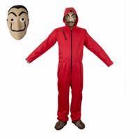 2018 Yeni La Casa De Papel Salvador Dali Cosplay Kostüm Salvador Dali Cosplay Film Kostüm Maske S-2XL Ücretsiz kargo