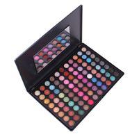 Drop ship 88 Farben Matte Lidschatten 2 Sets von Farben Professionelle Make-Up Natürliche Palette Augen Schatten Kosmetik
