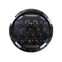 Fari a 7 pollici H4 LED Halo a fascio alto / basso 7 pollici faro rotondo automatico con angelo occhio DRL per Jeep Wrangler JK TJ CJ Hummer Defender