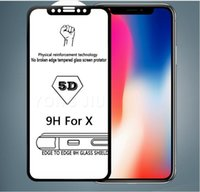 For Iphone 8 X 5D Tempered Glass Curved Screen Protector for...