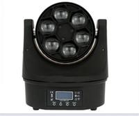 10 Stücke billige Disco-Lichter 6x15w RGBW 4in1 Waschläger Mini B Biene Auge Bewegt Kopf LED-Strahl Bühnenbeleuchtung