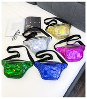 Laser Waist Bag 5 Colors Women Fanny Pack Reflective Belt Sh...