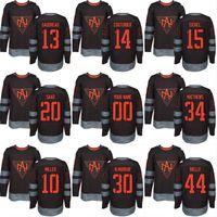 América do Norte 2016 Copa do Mundo de Hóquei Jersey 13 Johnny Gaudreau 14 Sean Couturier 15 Jack Eichel 20 Saad Personalizado Hockey Jerseys