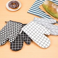 Nice Cotton Oven Glove Heatproof Mitten Kitchen Cooking Micr...