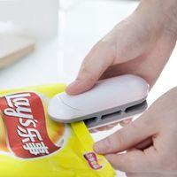 Máquina de sellado de bolsas de plástico multifunción selladora de calor para el hogar Mini bocadillos portátiles Bolsas Clips 7 4tq C