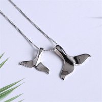 2021 925 Стерлинговое серебро океан морской рыбий хвост русалка кулон ожерелья женские украшения