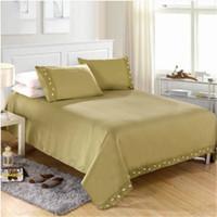 Conjunto de ropa de cama de la colección Decor Collection Juego de sábanas de bolsillo profunda Funda de cama con funda Fundas de almohada