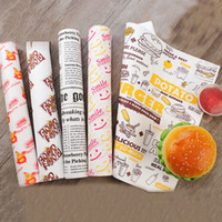 100 pcs Oil- proof wax paper for food wrapper paper Bread San...