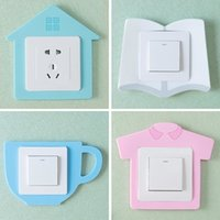 Cute Luminous Light Switch Outlet Wall Sticker Cover Childre...