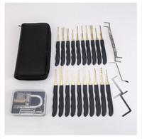 고품질 스테인리스 24pcs GOSO 자물쇠 따기 Lockpick 자물쇠 제조공은 가죽 자루를 가진 빠른 자국을 자른다 + 투명한 자물쇠는 실행한다