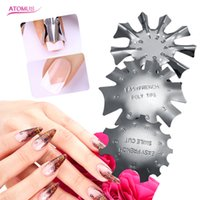 Manicure French Nail Shaped Steel Plate Model Crystal Armor ...