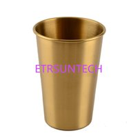 Stainless Steel Gold Color Tumbler Metal Cups Outdoor Campin...