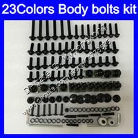 Carenagem parafusos kit parafuso completo para a Kawasaki ZX6R 00 01 02 ZX 6R ZX 6 R 00 02 2000 2001 2002 ZX6R porcas do corpo parafusos de porca 25Colors kit parafuso