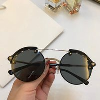 Luxury 4337 Sunglasses For Women Retro Round Half- Frams Simp...