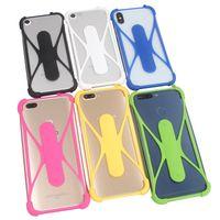 s5 s6 s7 için iPhone 5 6 6s artı Kauçuk Kapak Evrensel Tampon Kılıf için tutucu Silikon çerçeve Telefon Kılıfları