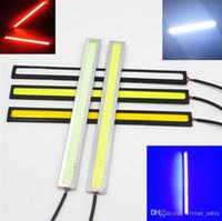 2 adet Kırmızı beyaz sarı mavi yeşil Süper Parlak COB LED Işık DRL Sis Gündüz Sürüş Koşu Lambası Su Geçirmez 17 cm 12 V Tüm araba için