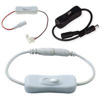 DC SMD 3528 5050 Tek Renk LED Şerit için Switch ile 2pin 8mm 10mm Connector bağlayın Tel Kablo Geçiş