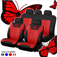 Universal Fashion Styling Conjunto completo Butterfly Car Seat Protector Auto Interior Accessories Automotive Car Seat Cover