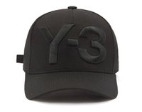 2018 뉴 Y-3 아빠 모자 큰 대담한 수 놓은 로고 야구 모자 조정 가능한 스트랩 백 모자 Y3 뼈 스냅 백 스포츠 casquette 바이저 gorras 모자