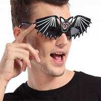 Gafas de murciélago interesantes Gafas divertidas creativas Cosplay Masquerade Ball Prop Halloween Decoraciones navideñas Suministros para fiestas 8 5sf C
