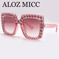 ALOZ MICC Fashion Brand Designer Sunglasses For Women Crysta...