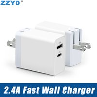ZZYD For Samsung S8 Note 8 iPX Type C Wall Charger 5V 2. 4A D...
