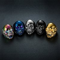 Punk Skull Ring Ornaments Classic Stainless Steel Ghost Head...