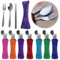 3pcs set Travel Kids Adult My Cutlery Stainless Steel Tablew...