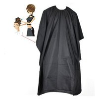 Hairdresser Cape Gown Cloth Cover Black Salon Styling Tool H...