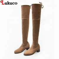 2018 Lukuco New Arrival Nubuck Boots Women Pumps Pointed Toe...