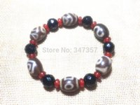 China Tibetan Jewelry Qualitied 12mm*16mm Multi-pattern Dzi  Bracelet for Women Bring Good Luck Free Shipping