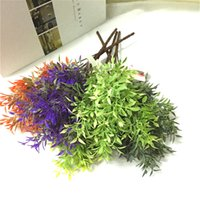 33cm artificial Green lucky grass green garden plants simula...
