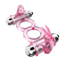 10 velocità di vibrazione del pene anello anelli del pene stimolatore del clitoride coniglio lingua vibratore nei giochi per adulti per le coppie giocattoli del sesso per gli uomini