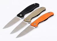 Shirogorov hati95 hati 95 D2 G10 mango 58-60HRC cuchillo plegable del bolsillo que acampan supervivencia cuchillo de 1pcs ADNB