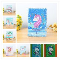 Mermaid Sequin Unicorn Notebook Fish Scale Notepads tickler ...