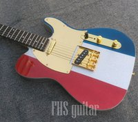 Three color sparkle TL style electric guitar, custom serial N...