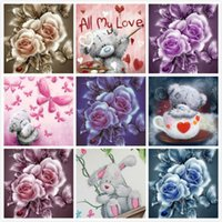 5D Diy Diamond Painting flowers cross stitch Embroidery Bear...