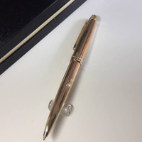 Luxury MT 163 golden metal pen ag925 classic ballpoint pen w...