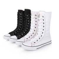 New arrival unisex zip fashion boots girl students canvas bo...