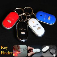 Anti-Lost Finder Sensor Allarme Whistle Key Finder LED con batterie Safely Security Keychain Fischio suono LED Light portachiavi z177
