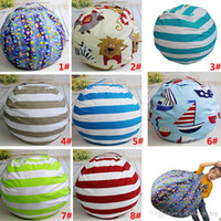 8 Designs Plush Stuffed Toys Storage Bags Striped Printed Be...