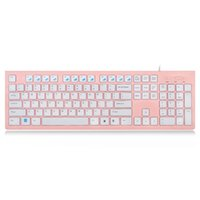 Women Office Keyboard with Cute Comfortable Chocolate Keycap...